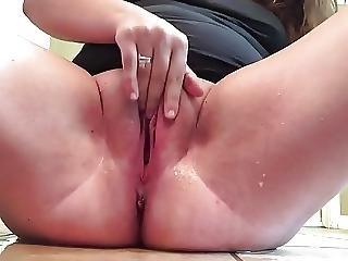 Chubby Girl Springs A Leak