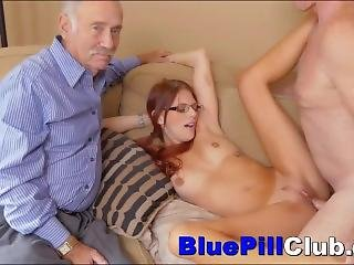 Cute Teen Loves The Big Thick Cocks Of Old Men