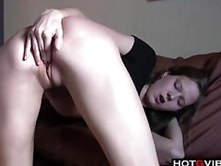 Slim Blondie Rubbing Her Pussy