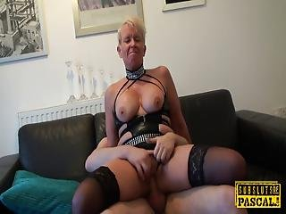 Mature Britt Cock Sucks Dom In Front Of Sissy