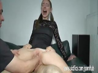 Double Fisting And Fucking Her Slack Teen Pussy