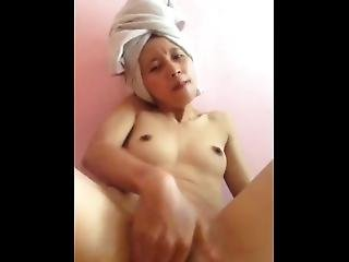 Malay Teen Fingering And Squirting With Towel On Head