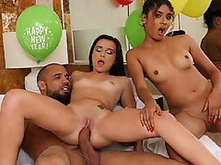 Girls At The Party Decided To Sit On His Big Cock