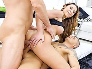 Curvy Belgian Siren Julie Skyhigh Gets Double Penetrated