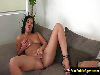 Real Casting Beauty Bouncing On Agents Cock