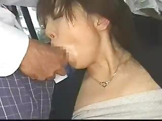 asiatisch, gross titte, bukakke, bus, ladung, pornostar