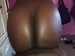 Amateur Ebony Ass Riding A Dick