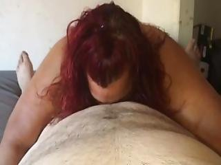 Bbw Milf Sucking My Small Cock Part 1