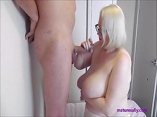 Sally Sucking Cock And Cum On Tits
