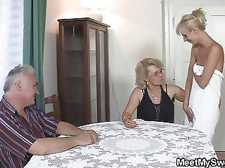 Blonde, Fucking, Mature, Old, Parents, Perverted, Teen, Threesome, Young
