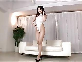 Azumi In White Leotard Bodysuit