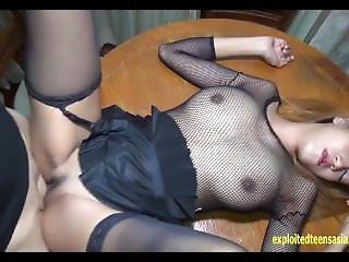 Exclusive Scene Thai Amateur Bee Massive Tits Fucked On The Table