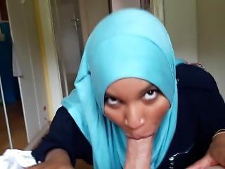 Creative Hijab Sucking Lucky Guy