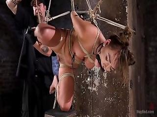Sexy All Natural Slut In Grueling Bondage And Tormented%21%21