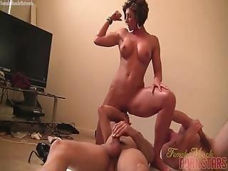 Female Muscle Porn Star Mistress Amazon Is Masturbating
