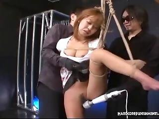Japanese Babe Dominated By Maledom Group And Plethora Of Toys