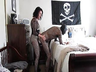 Using My New Lady Boy Panty For First Time On His Ass