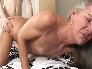 Skinny Boy With Long Cock Fucks Divorced Milf