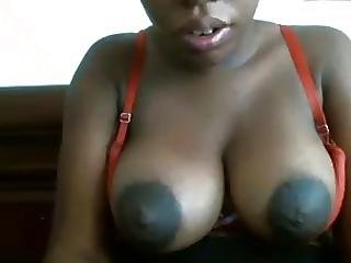 Big Dark Areolas On This Black Girl