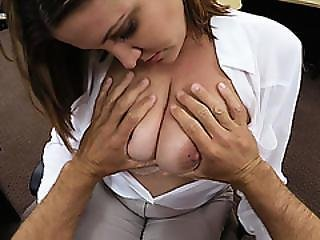 Desperate Milf Business Woman Shows Her Tits And Gets Fucked In The Pawnshop