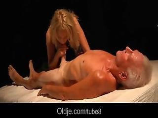Busty Blonde Teen Seduces Grandpa To Have Sex