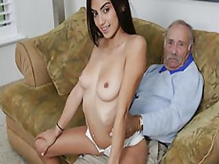 Pretty Michelle Martinez Bangs By An Old Man