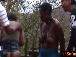 African Chicks Love Getting Abused By Studs Outdoors They Get Whipped And Tortured Making Their Juicy Pussies Wetter Than Ever