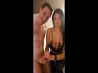 Ballbusting Jasmine Mendez Destroys The Balls Of Andrea Dipre