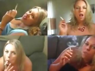 Quad View Of Smoking Jessica