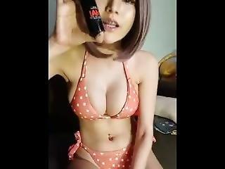 asiática, só, stripper, tailandesa