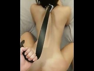 Pinay Teen On A Leash While Doing Doggie And Spanking