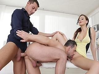 Two Guys And One Gal Is What Tina Kay Wanted And Both Guys Are Loving The Idea