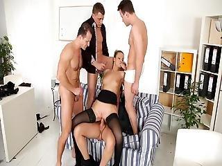 Black Stockings Samantha Jolie Gang Bang