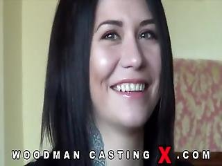 Great Casting With A Cute Brunette Joined By Her Slut Friend