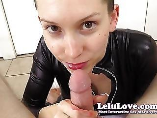 Giving You A Sloppy Saliva Lipstick Blowjob In My Catsuit