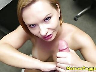 Busty Stepmilf Jerking Pov Cock