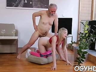 Horny  Angel Likes Hardcore Insertion Of Old Hard Cock