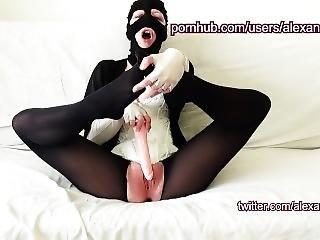 Julie Masturbating With Her Dildos Wearing Sexy Stockings - Alexandjuliexxx