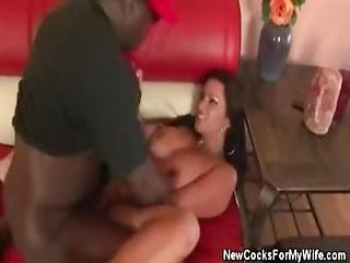 Hubbie Watches As Wifey Gets Fucked