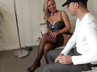 German Hanging Tits Milf Hooker Fuck With Virgin Young Guy For Cash