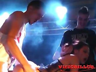 Extreme Threesome Ashley Woods Crazy Clown & Kendo On Stage By Viciosillos
