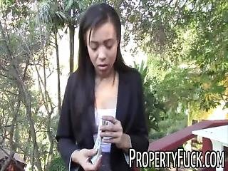 Young Black Real Estate Agent Gets Tricked Into Fucking Pervert With Camera