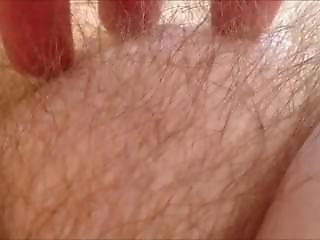 Teasing A Hairy Milf Muff - Closeup