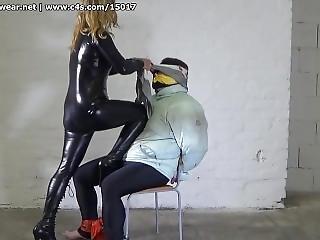 Mistress Jenny Pantie Gags Slave