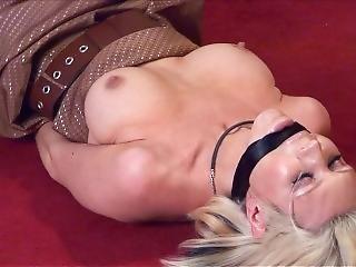 Dikke Tiet, Blonde, Bondage, Gebonden