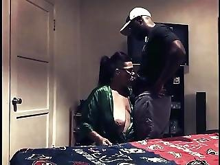 White Step Mom Busts Black Step Son Jacking Off