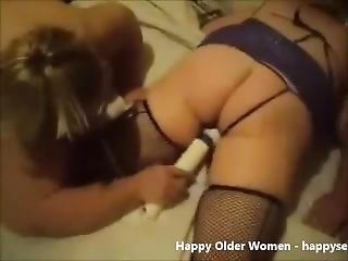 Amateur Lesbian Grannies Having Fun.