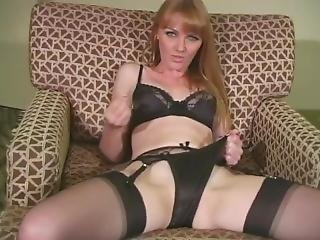 Marie Wants You To Cum On Her Black Satin Panties