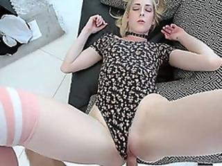 Finally I Fucked My Cute Blonde Stepsisters Hot Pussy