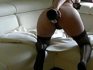 Amateur, Anal, Ass, Bitch, Champagne, Fucking, Squirt
